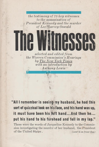 The Witnesses - Selected and Edited From The Warren Commission Bt: The New York Times-Book-Palm Beach Bookery