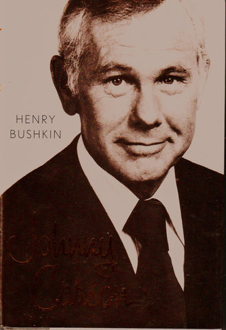 JOHNNY CARSON By: Henry Bushkin-Book-Palm Beach Bookery