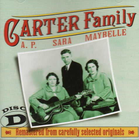 Carter Family - The Carter Family 1927 - 1934 Disc D-CDs-Palm Beach Bookery