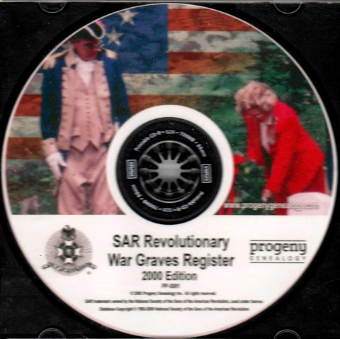 SAR - SAR Revolutionary War Graves Registry (2000 Edition)-CDs-Palm Beach Bookery