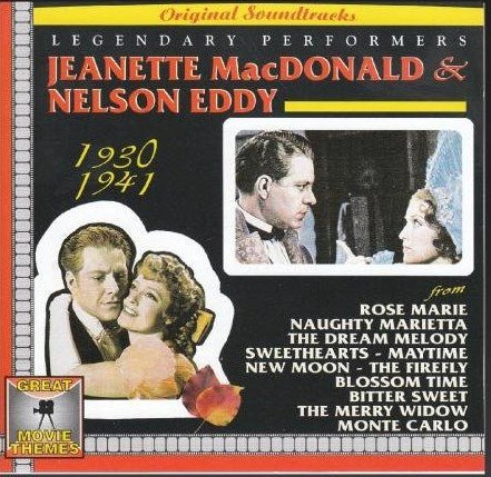Jeanette MacDonald & Nelson Eddy - Legendary Performers: 1930-1941-CDs-Palm Beach Bookery