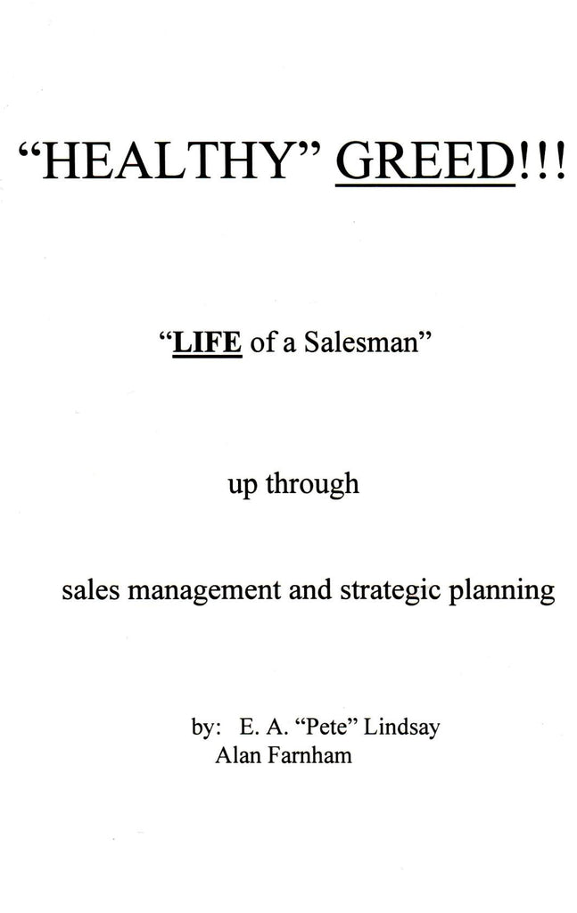 Healthy Greed, Life of a Salesman-Book-Palm Beach Bookery