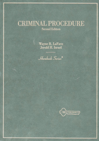 Hornbook on Criminal Procedure, 2nd-Book-Palm Beach Bookery