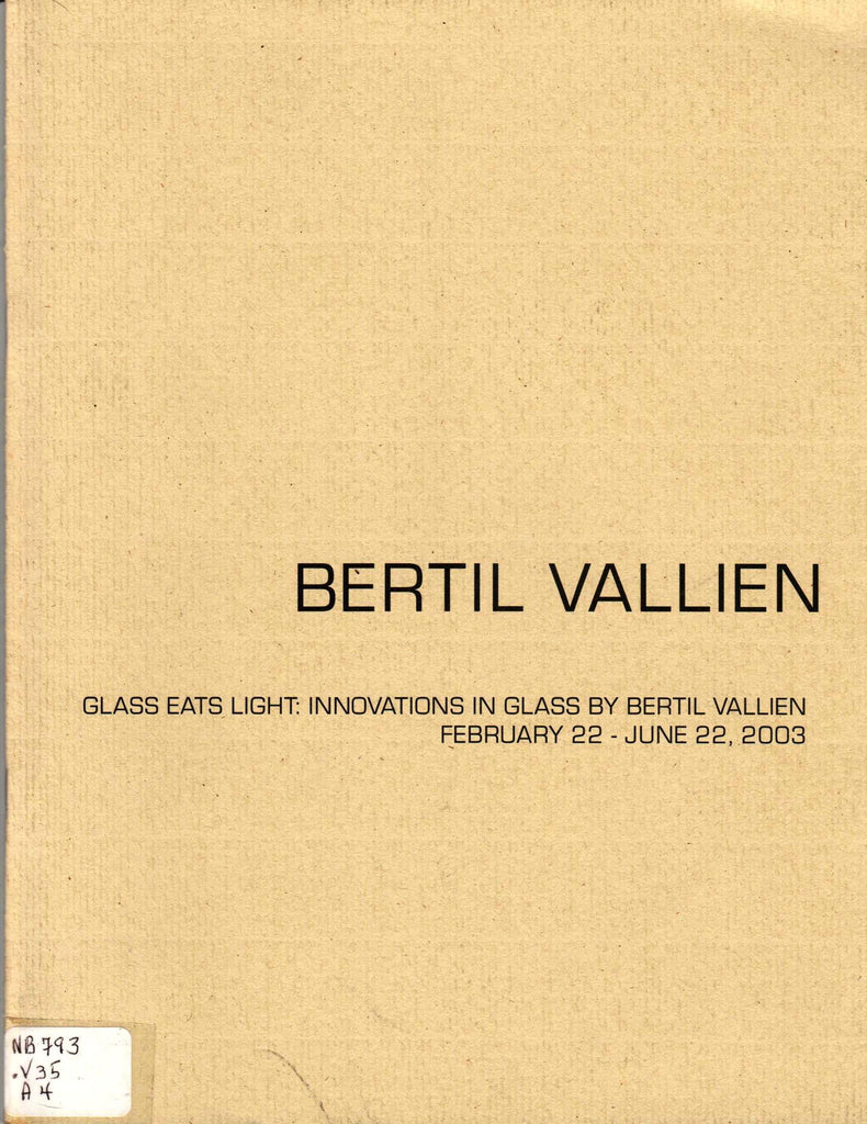 Glass Eats Light: Innovations in Glass By Bertil Vallien-Book-Palm Beach Bookery