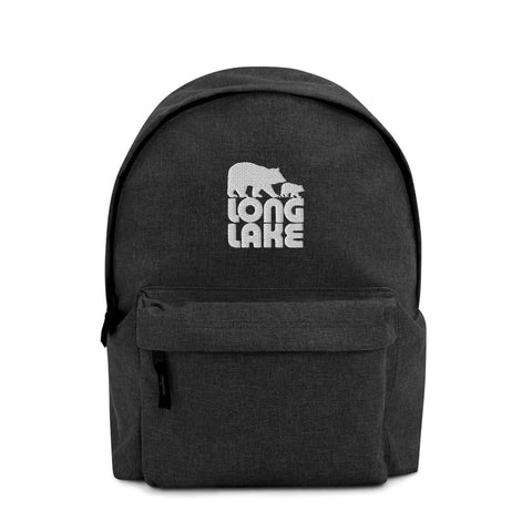 Long Lake Backpack | Long Lake Logo Embroidered Backpack | Adirondack Home Goods