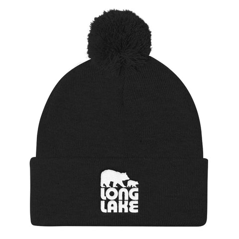 Long Lake Logo Pom Pom Beanie | Adirondack Apparel