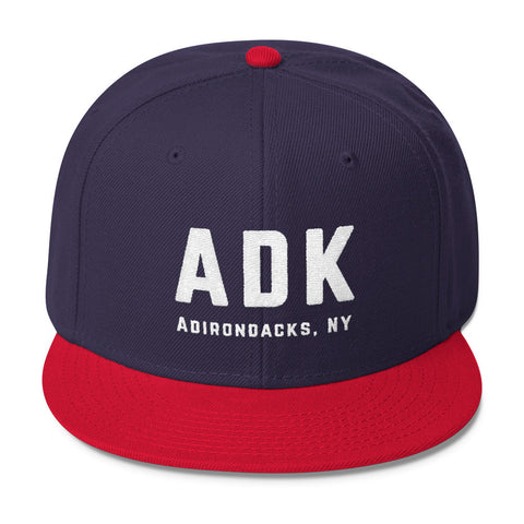 Adirondack ADK Snapback Hat - Blue & Red Hat