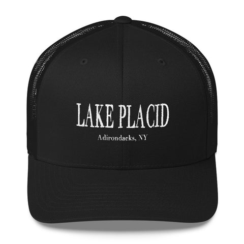 Lake Placid Trucker Hat - Black Trucker Hat