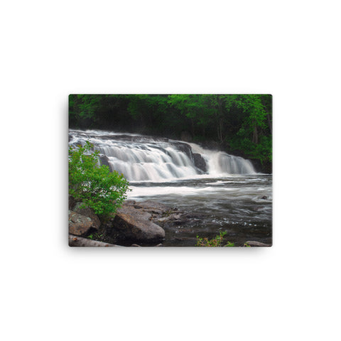 Buttermilk Falls Long Lake Canvas Wall Art | Adirondack Home Goods | Size 18x24 | Adirondack Apparel