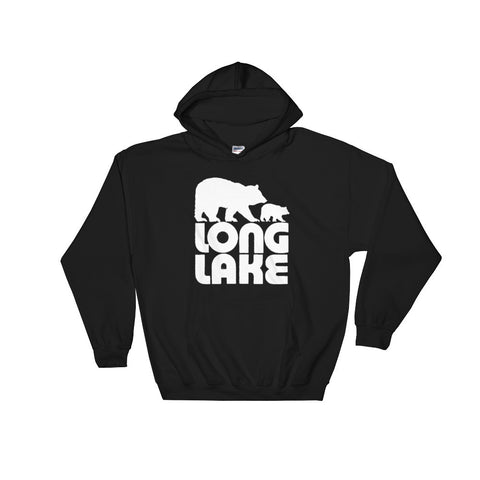 Long Lake Logo Hooded Sweatshirt. Long Lake Sweatshirt. Adirondack Apparel
