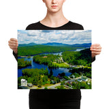 Long Lake Mt. Sabatis Canvas Wall Art | Adirondack Home Goods