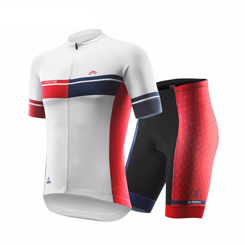 INBIKE Men's Summer Short Sleeve Cycling Jersey and Gel Padded Shorts Set
