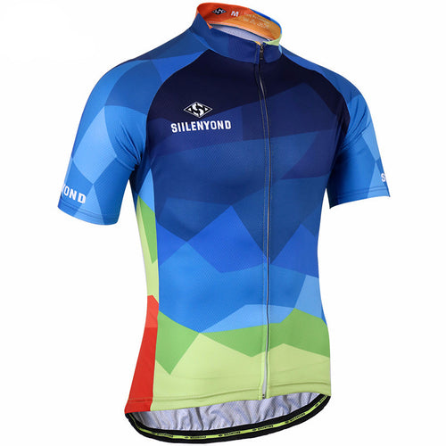 SIILENYOND Men's Short Sleeve Cycling Jersey