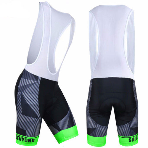 SIILENYOND Cycling Bib Shorts (Green, Red or Blue)