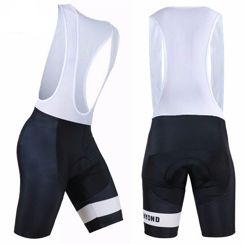 SIILENYOND Cycling Bib Shorts (Black/White)
