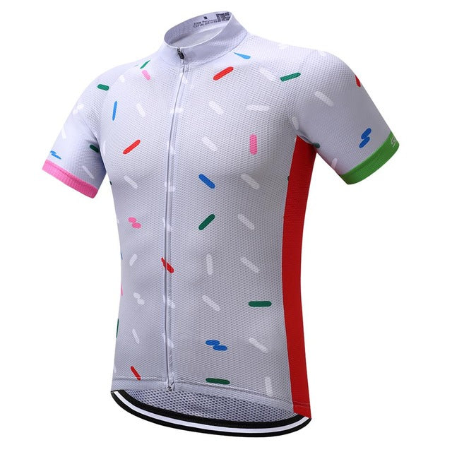 SUREA Men's Short Sleeve Summer Cycling Jersey (Retro