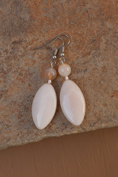 Pink/Peach Aventurine Earrings