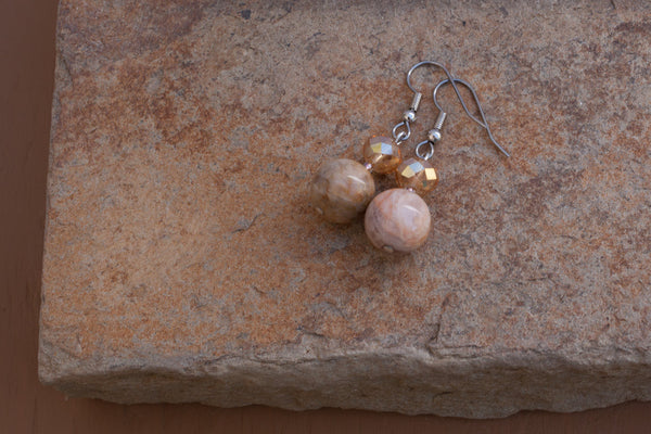 Feldspar & Crystal Earrings