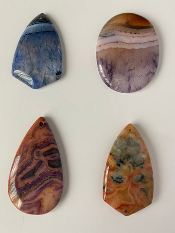 Agate Pendants ~ Lot of 4
