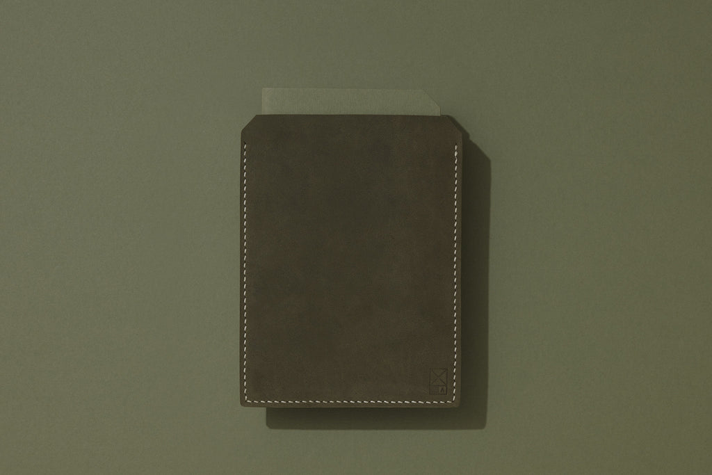 Olive Suede Leather Sleeve