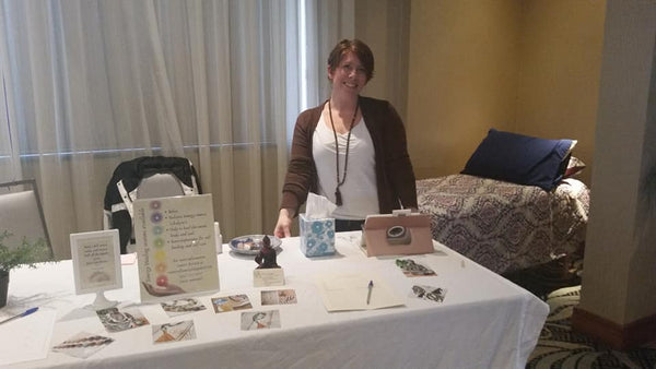 At an event offering energy healing