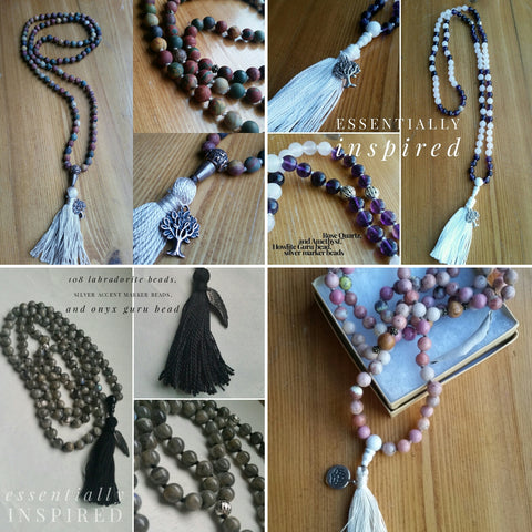 Custom Created Mala ~pictures of completed custom Malas inside