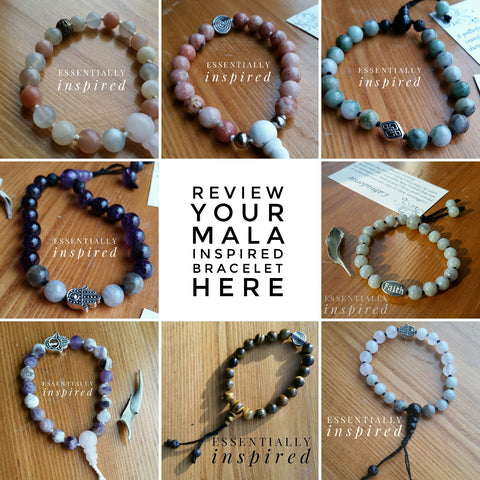 Reviews of Mala Inspired Bracelets and Gallery of Bracelets