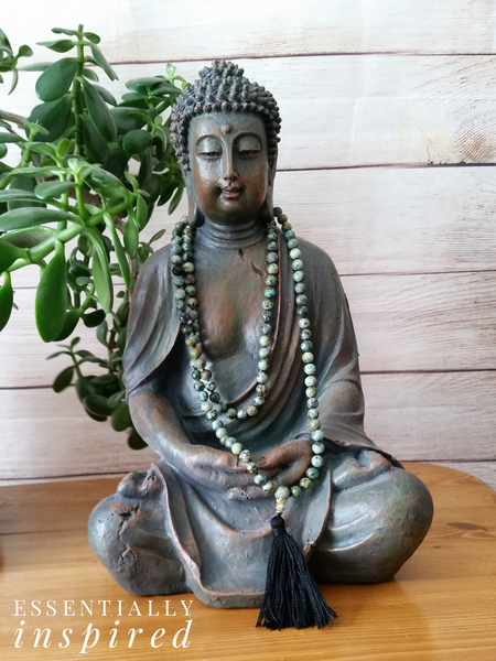 """I am balanced within myself, and welcome what is meant for me"" ~African Turquoise Mala"