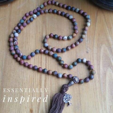 """I am..."" ~ Red Creek Jasper Mala"