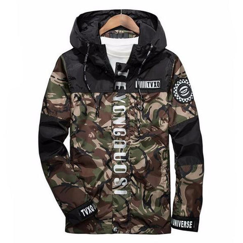 Reflective Camo Windbreaker