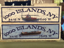 "Load image into Gallery viewer, St. Lawrence Signs with Coordinates 3""x12"""