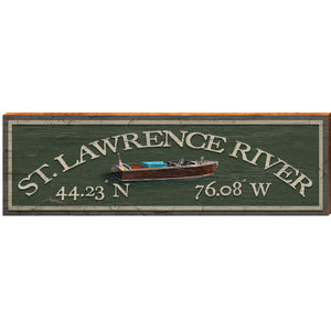 "St. Lawrence Signs with Coordinates 3""x12"""