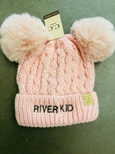 Load image into Gallery viewer, River Kid Double Pom Hat
