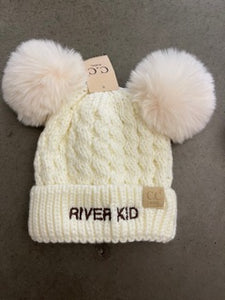 River Kid Double Pom Hat