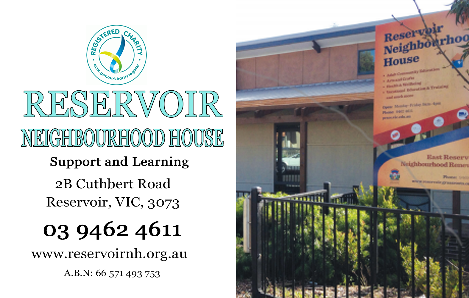 reservoir neighbourhood house community center for everyone who needs help and support angie davidson sponsor reservoir community