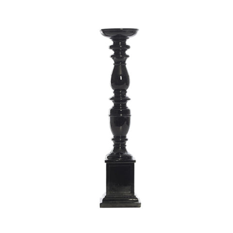 JESSOP BLACK RESIN PILLAR HOLDER