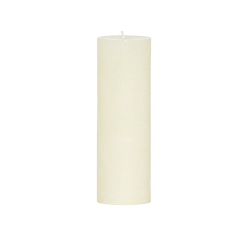 RUSTIC PILLAR CANDLE NATURAL 5 X 15CM