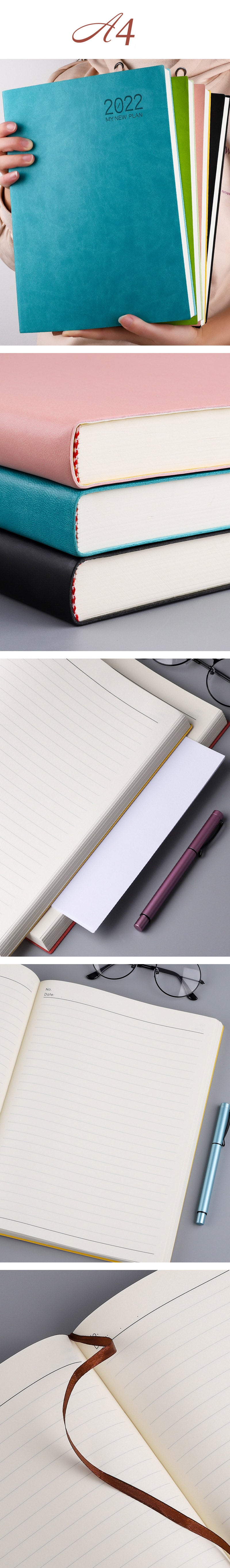 A4 400 Pages Thickening Lined Journal Notebook - Detail