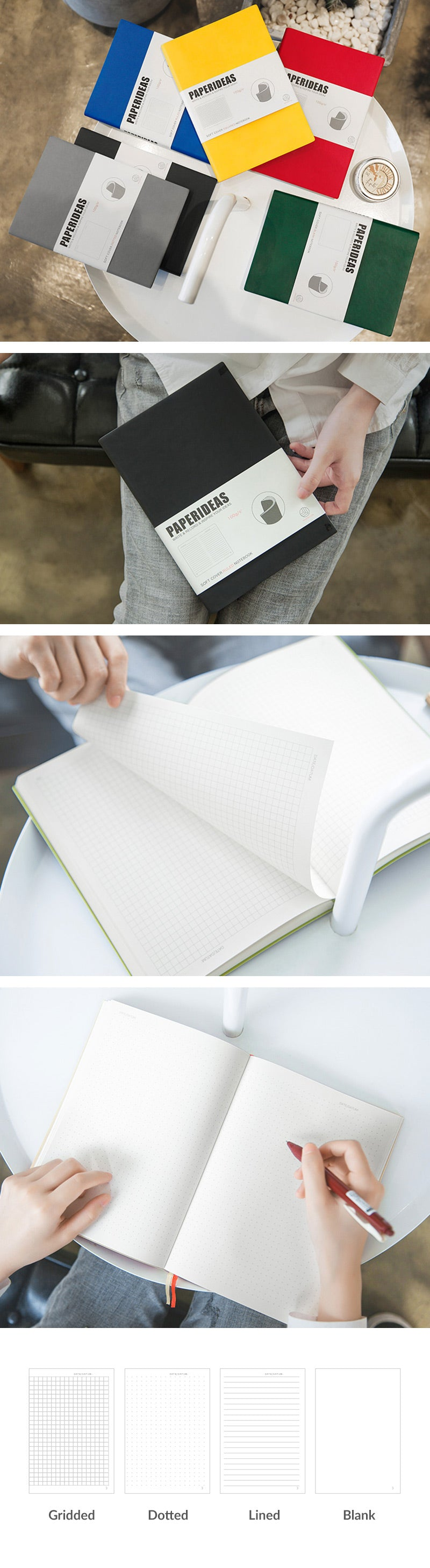 A5 Soft Cover Journal Notebook (Dot/Grid/Line/Blank)