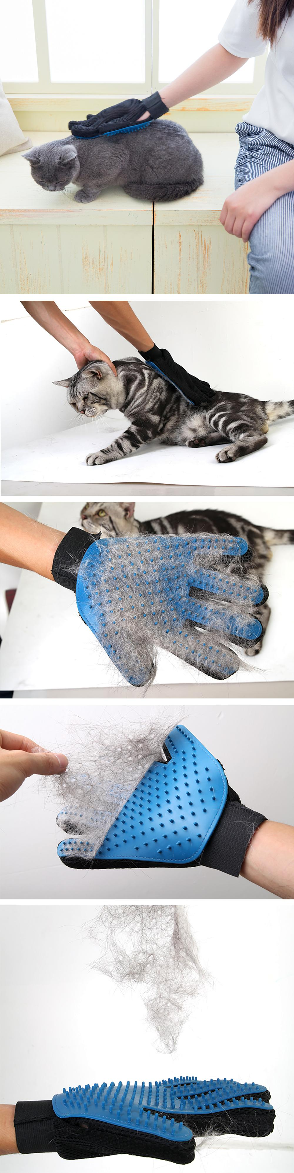Gentle Deshedding Glove For Pet Grooming - Details