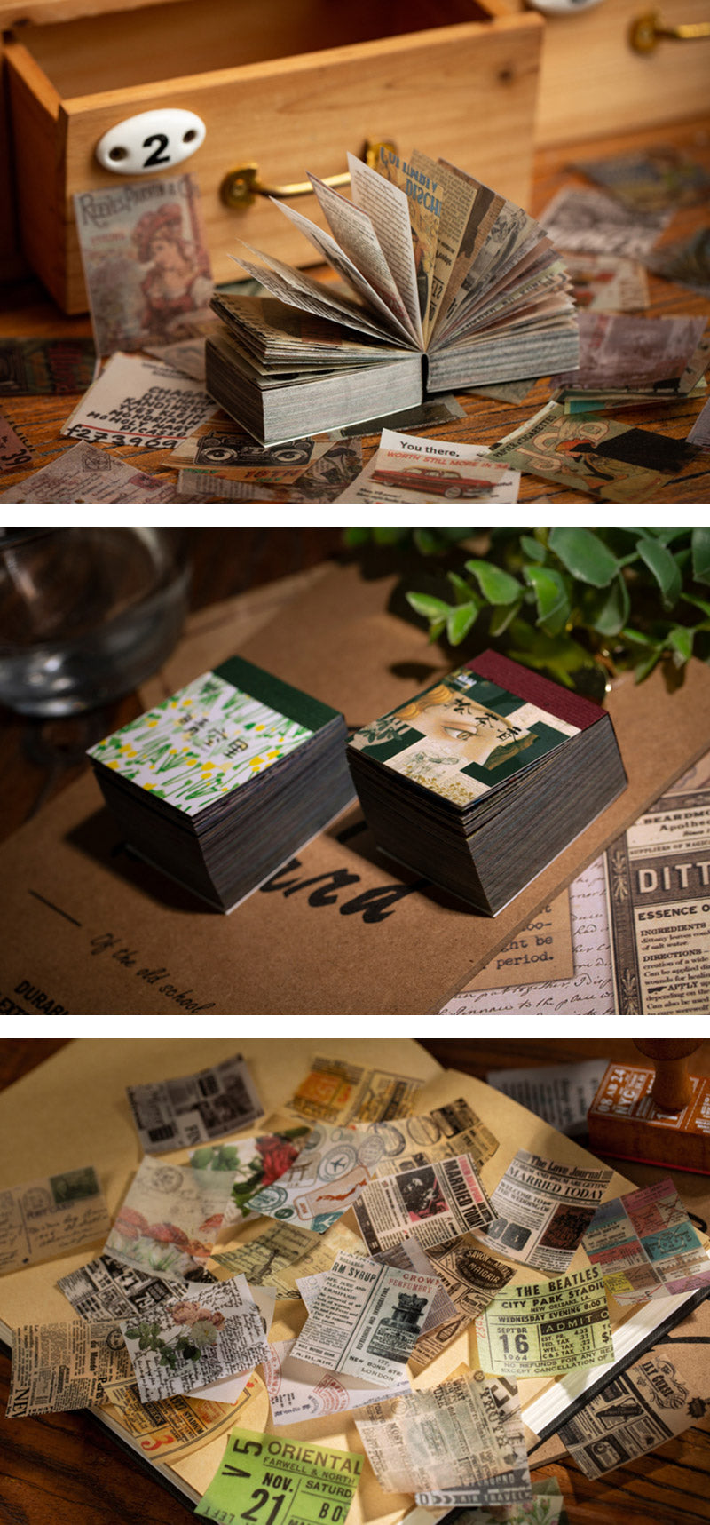 Kraft Paper Blank Flash Memo Card Box 100 Pcs - Detail