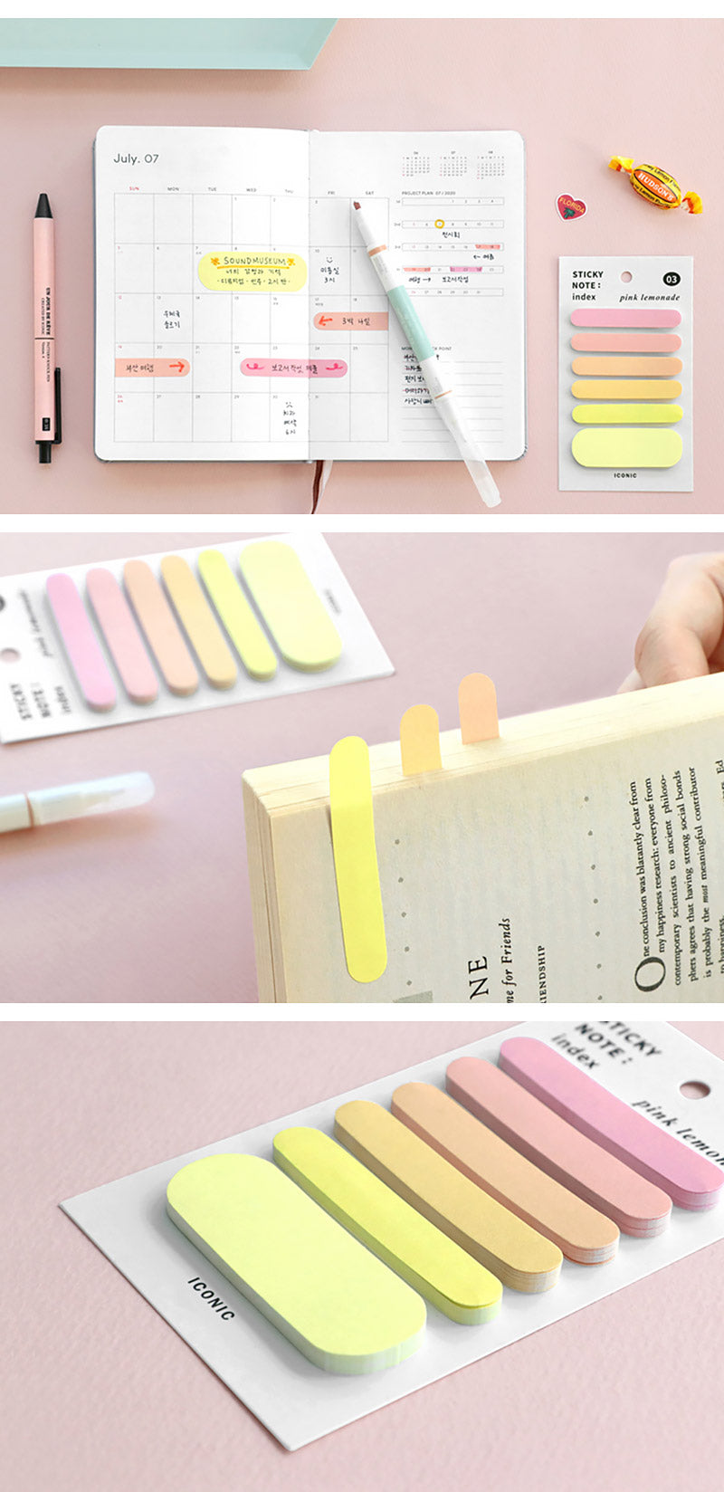 Korea ICONIC Pastel Color Index Tab - Place to use