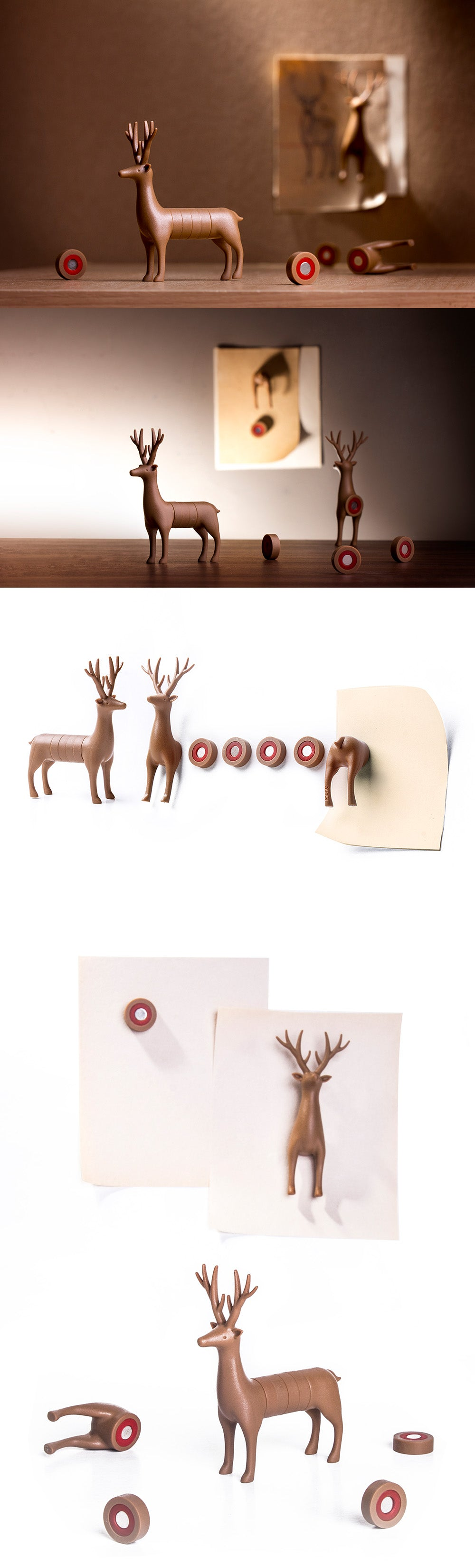 My Deer and Dachshund Magnet - Detail