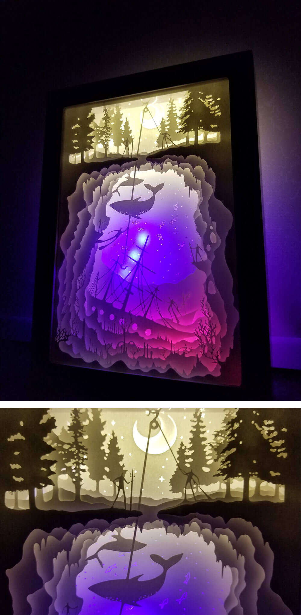 PaperCut Light Shadow Box - Detail