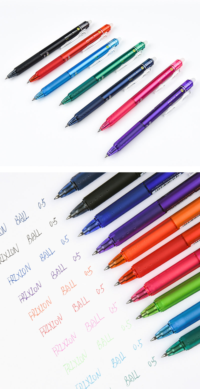 Pilot FriXion Ball Knock Erasable Gel Pen 0.5mm 10 Colors - Detail