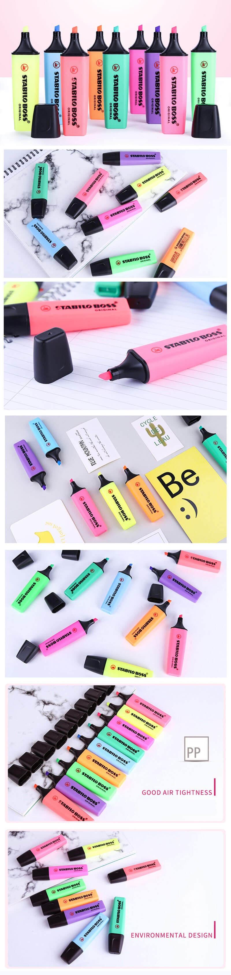 STABILO Boss Original Highlighters 9 Colors Pack - Detail