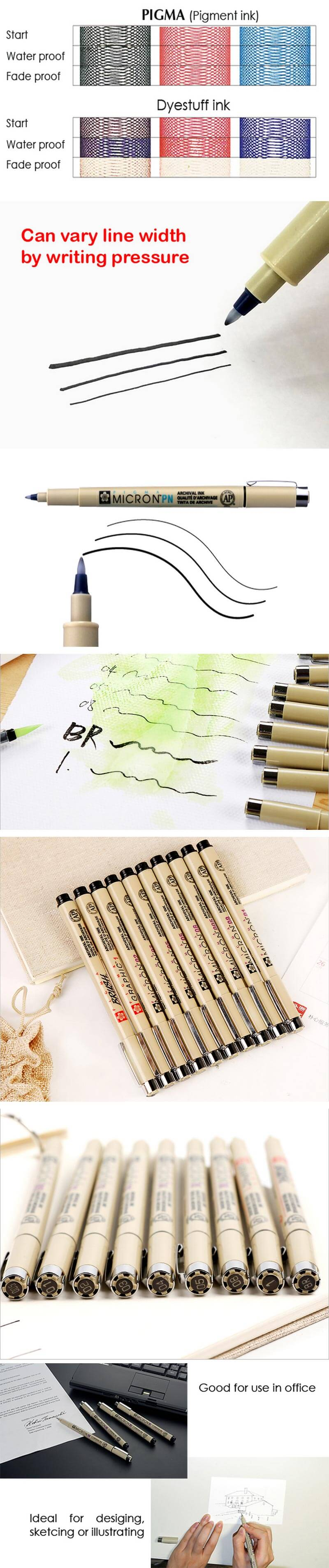 Sakura Pigma Micron Ultra-fine Brush Ink Pen - drawing