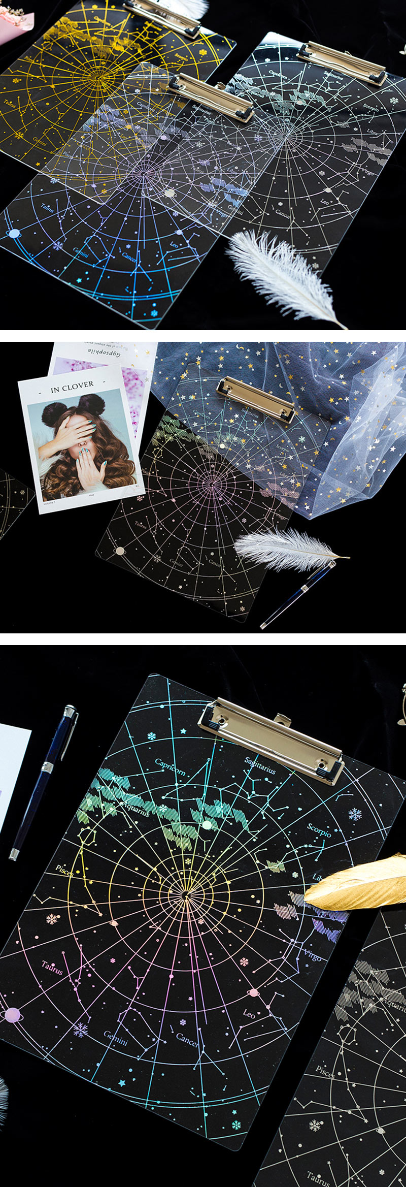 Transparent Holographic Clipboard - Detail