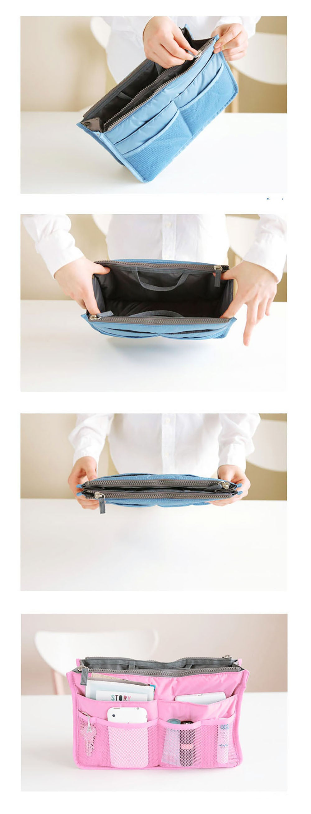 Travel Cosmetic Organizer Bag - Detail