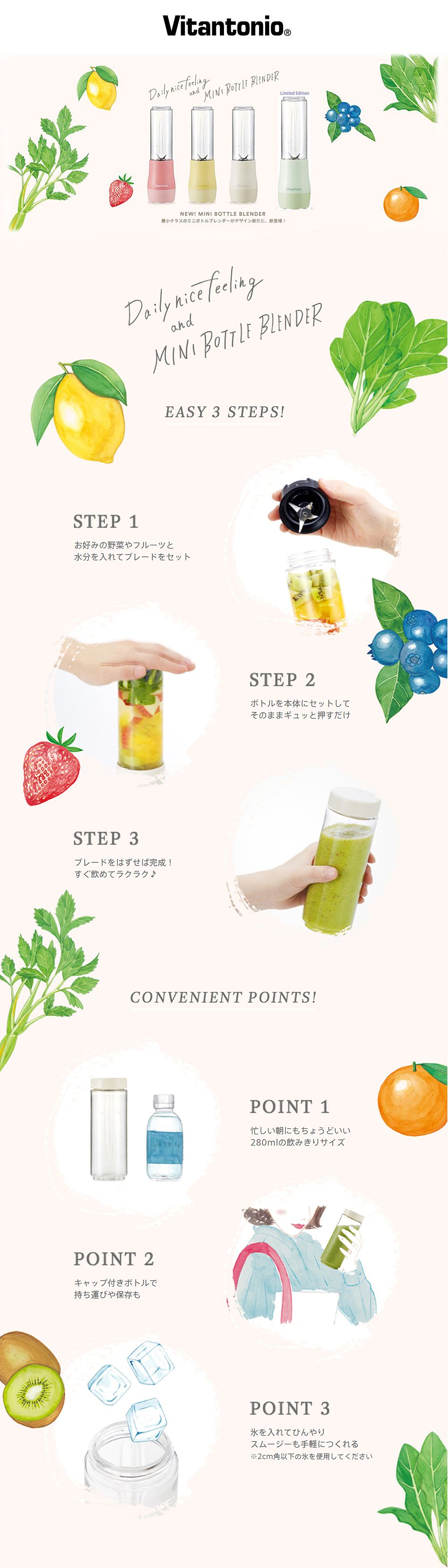 How to use Vitantonio Mini Bottle Blender
